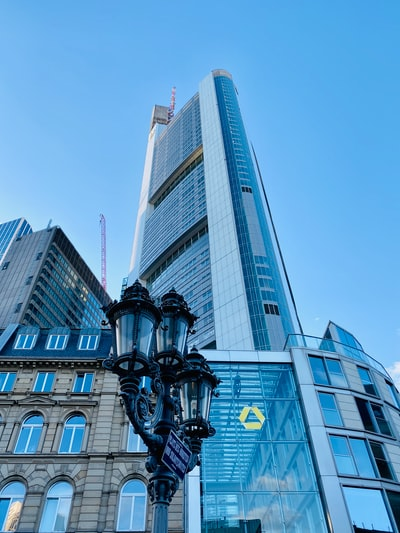 Commerzbank Tower in Frankfurt Downtown