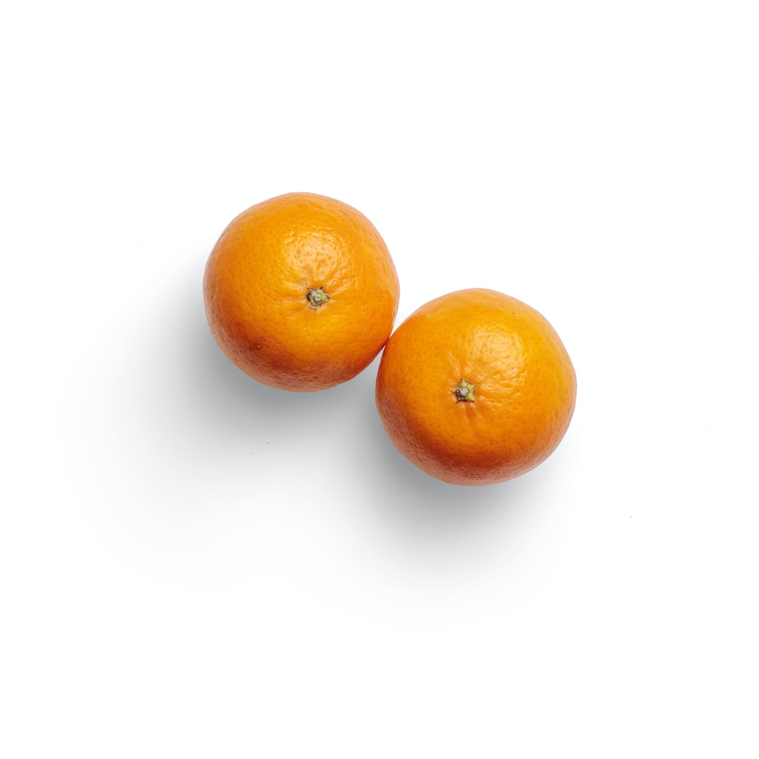 High-quality photo of tangerines on a white background