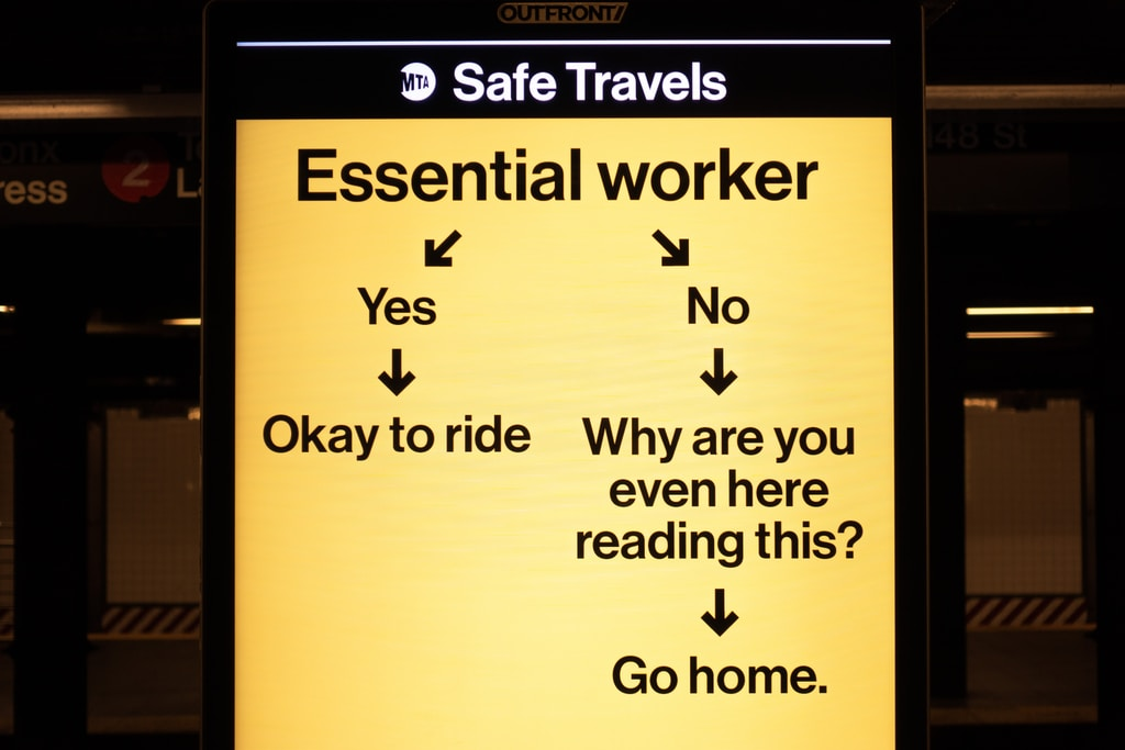 Subway message for commuters