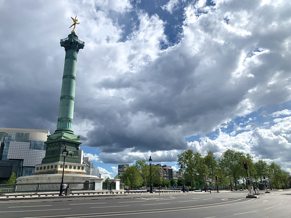 green statue under cloudy sky during daytime
