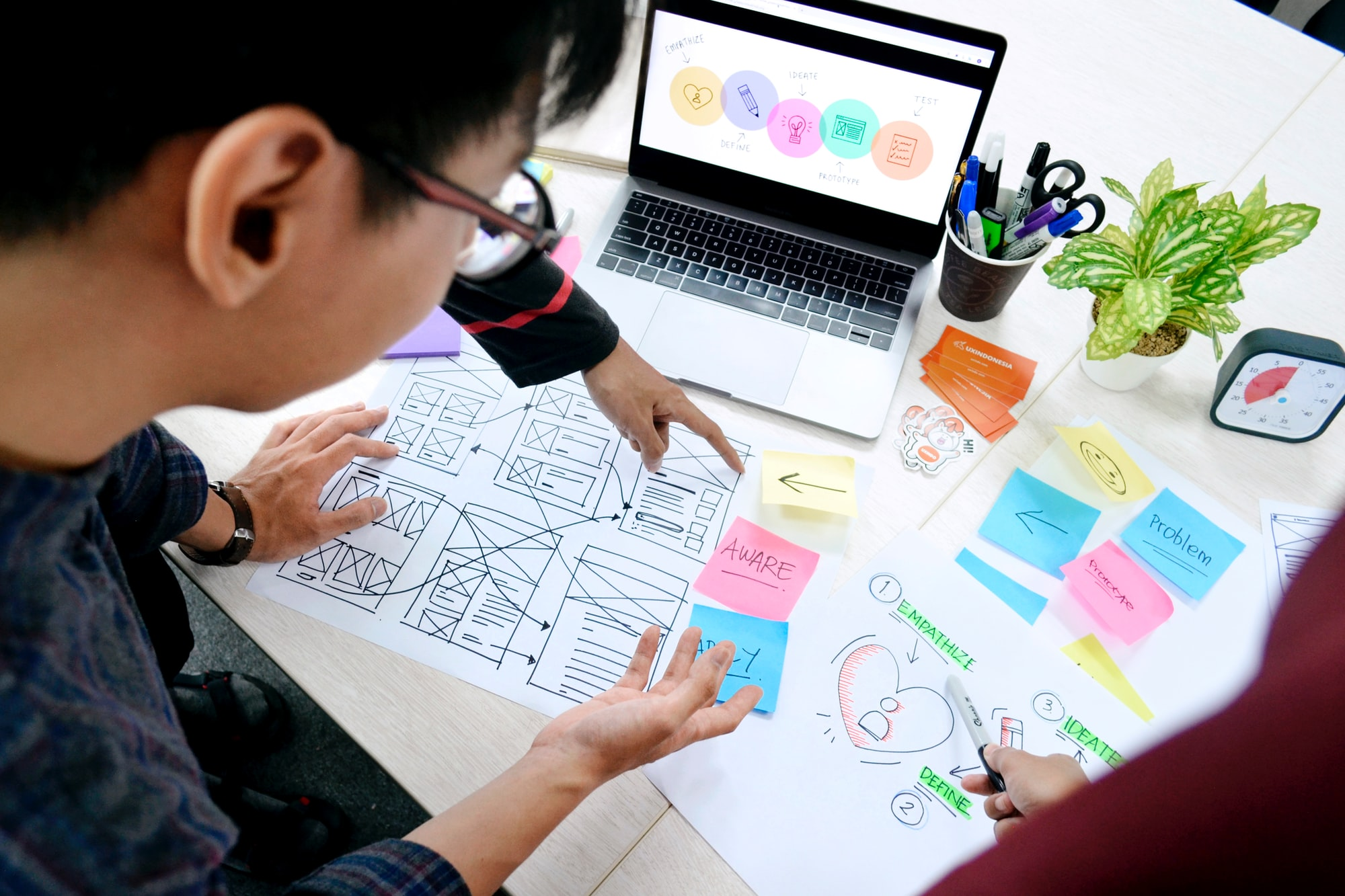 Design thinking is a human-centered approach to innovation that draws from the designer's toolkit to integrate the needs of people, the possibilities of technology, and the requirements for business success. Design thinking has a human-centered core. It encourages organizations to focus on the people they're creating for, which leads to better products, services, and internal processes.