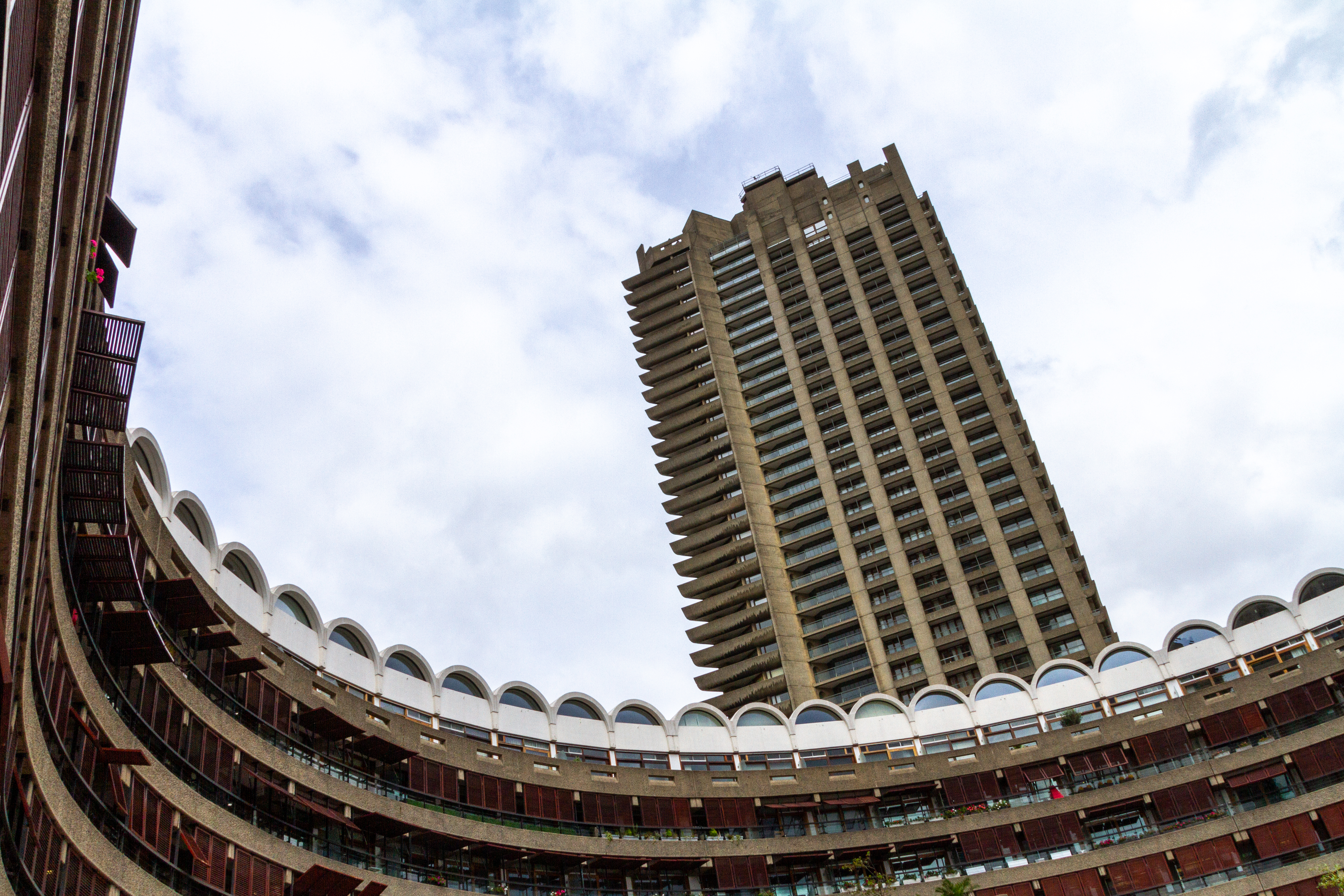 Barbican Estate residential complex in London, England.