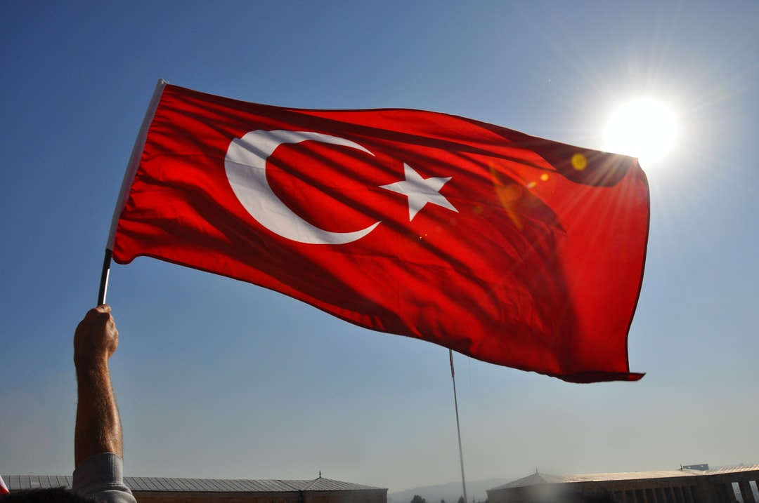 """Red and White in the sky...   October, 29th, 2013 - From the celebrations for """"Foundation of Republic of Turkiye"""""""