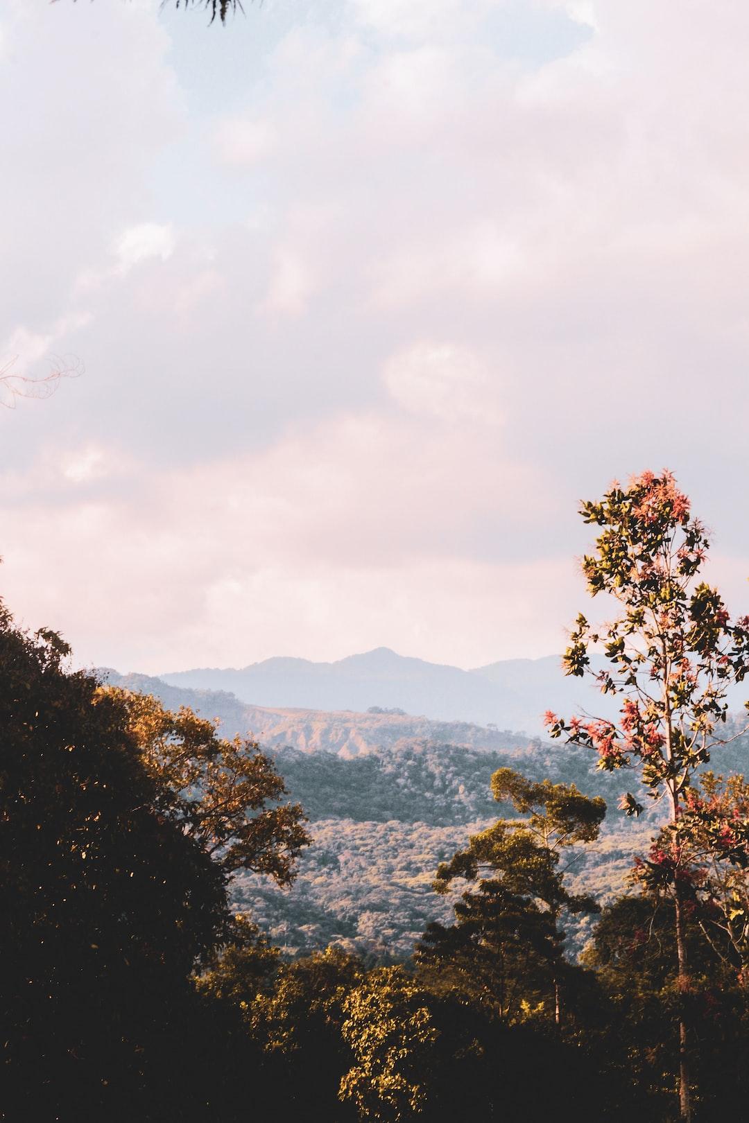 Rural landscape in Villavicencio, Meta.