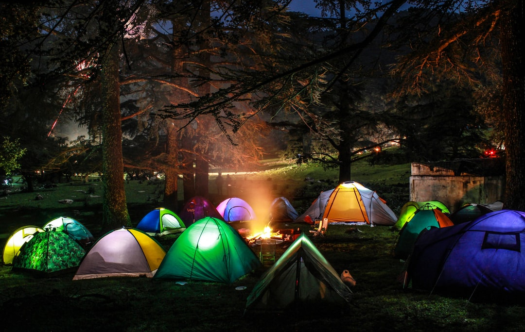 camping night in the forest