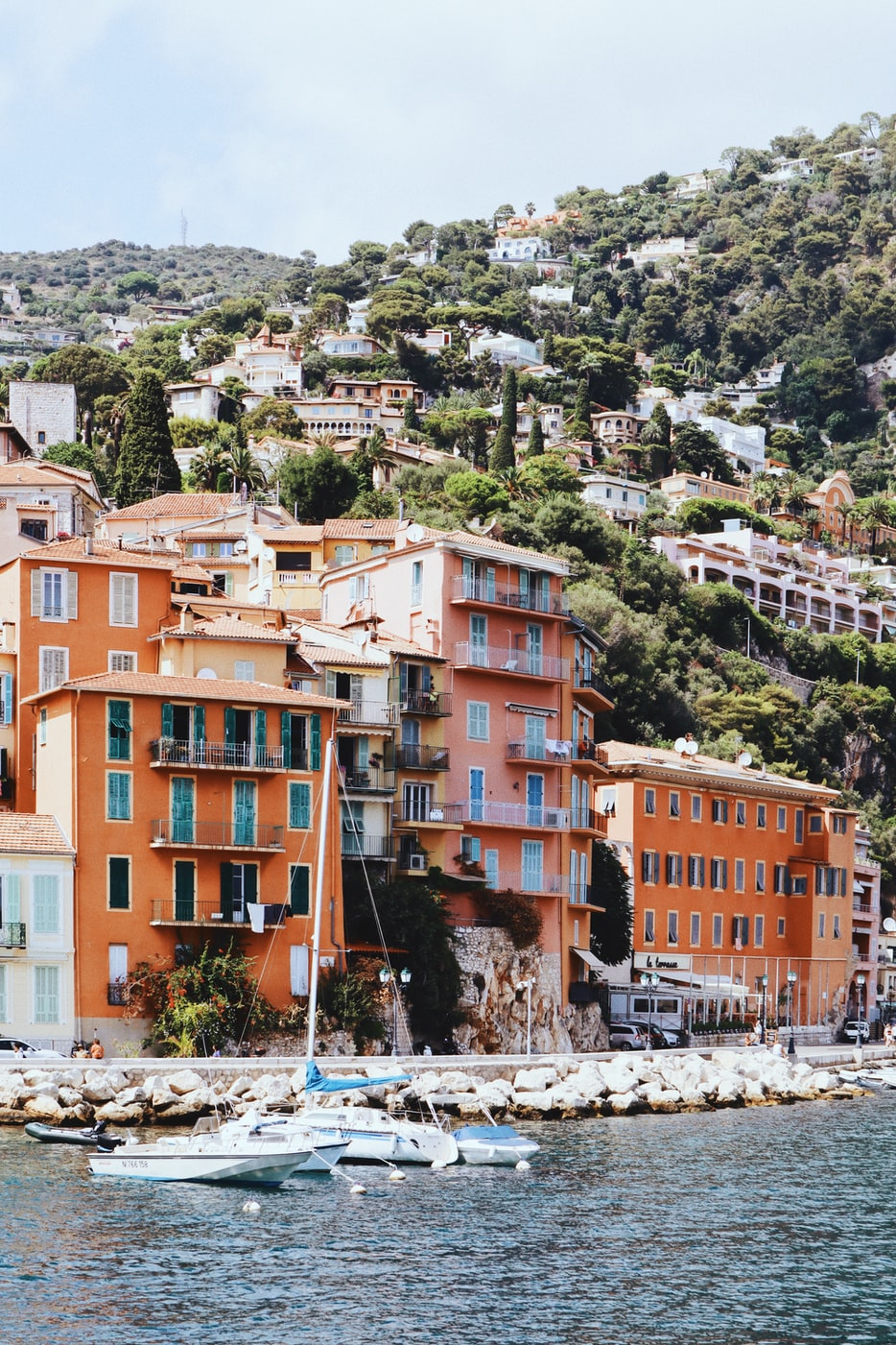 buildings on the coast of Villefranche-sur-Mer, France