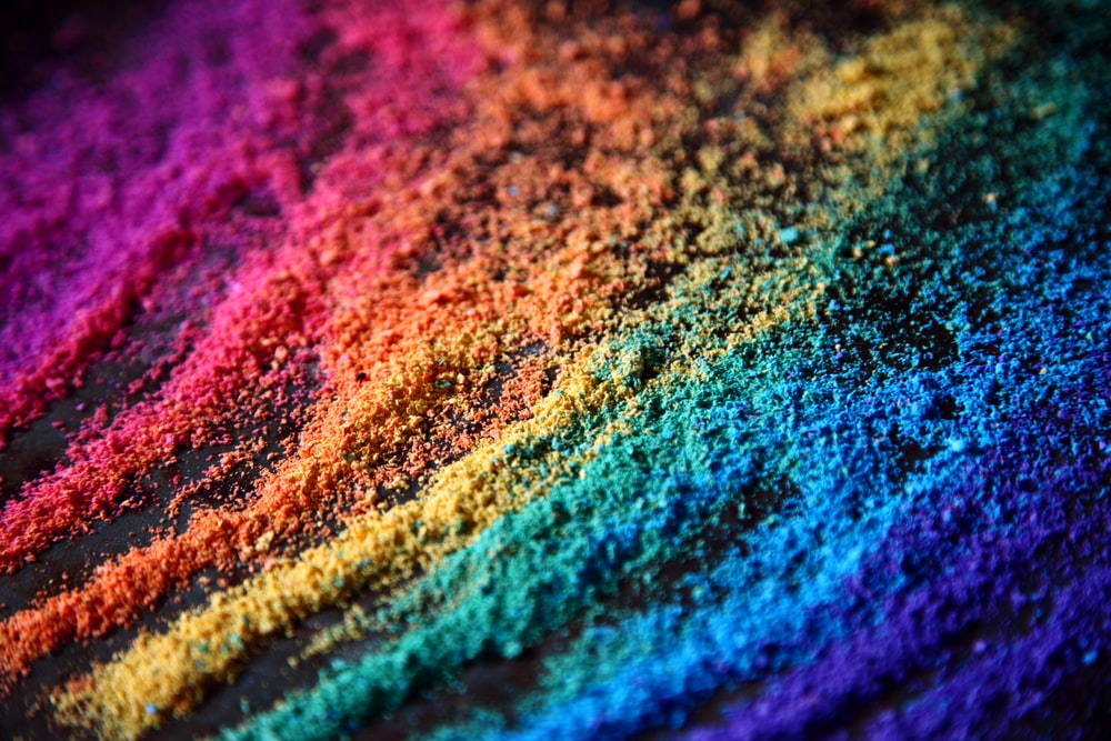 blue and pink textile in close up photography
