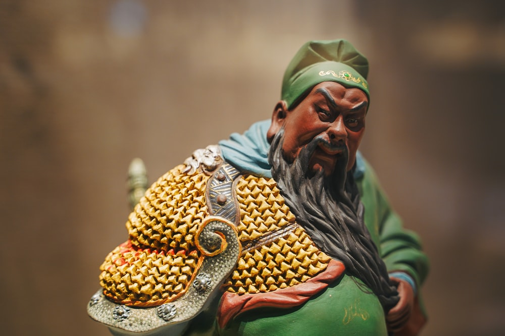 man in green and gold traditional dress