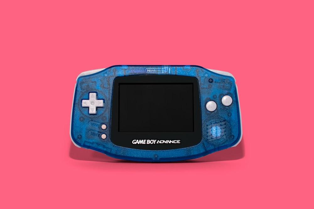 blue and black nintendo game boy