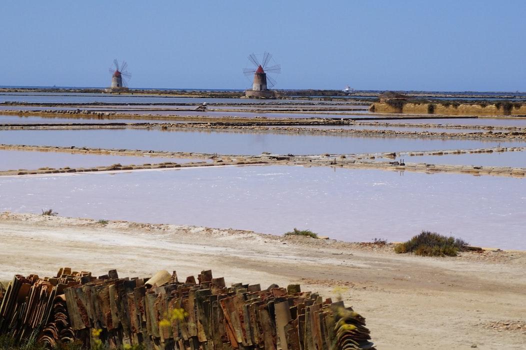 Saltworks in Trapani