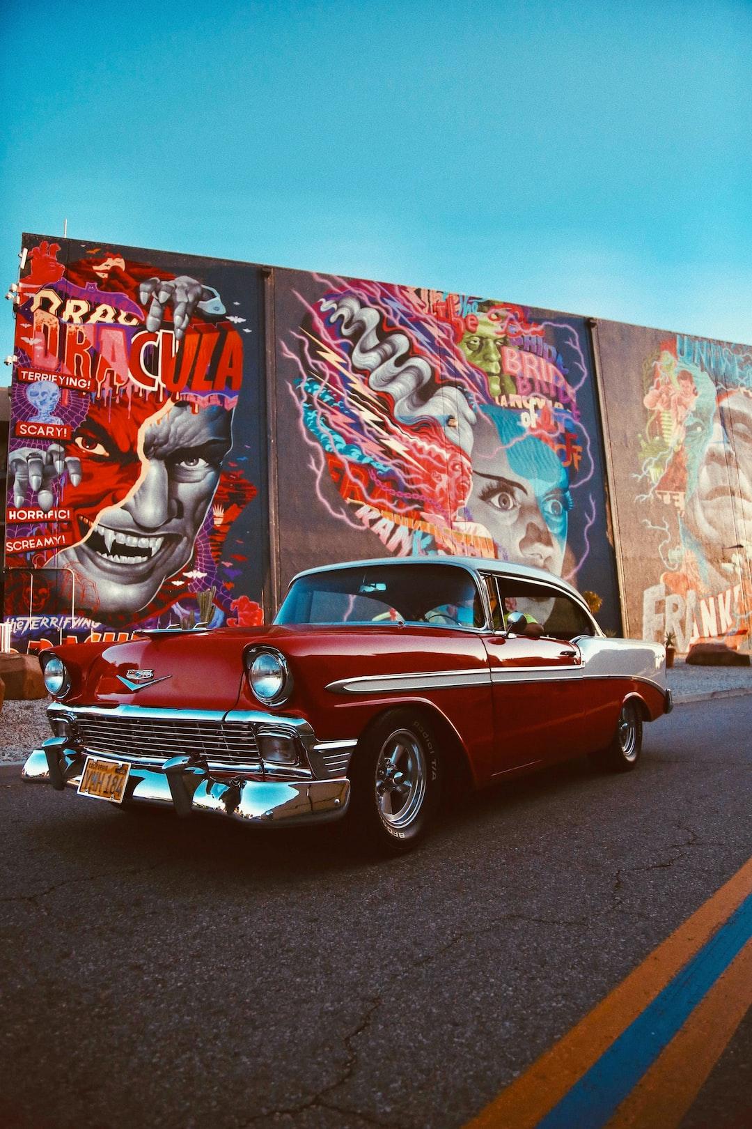 1956 Chevy Bel Air x @ Universal Studio Backlots - Mural by Tristan Easton