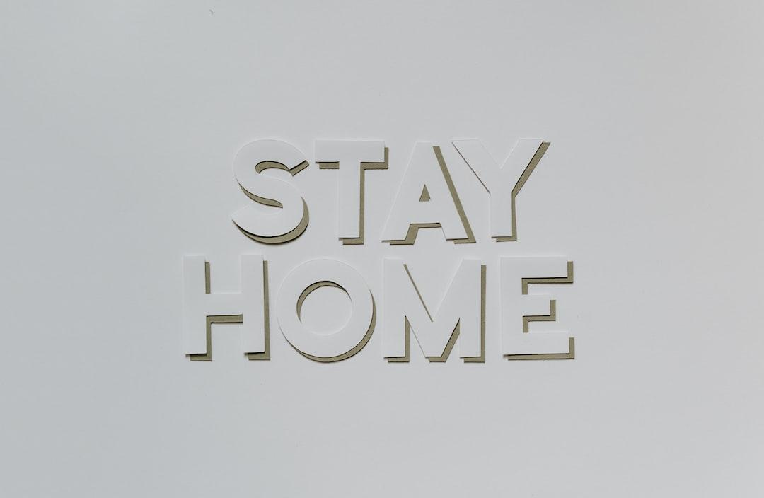 Say Home layered paper cutouts