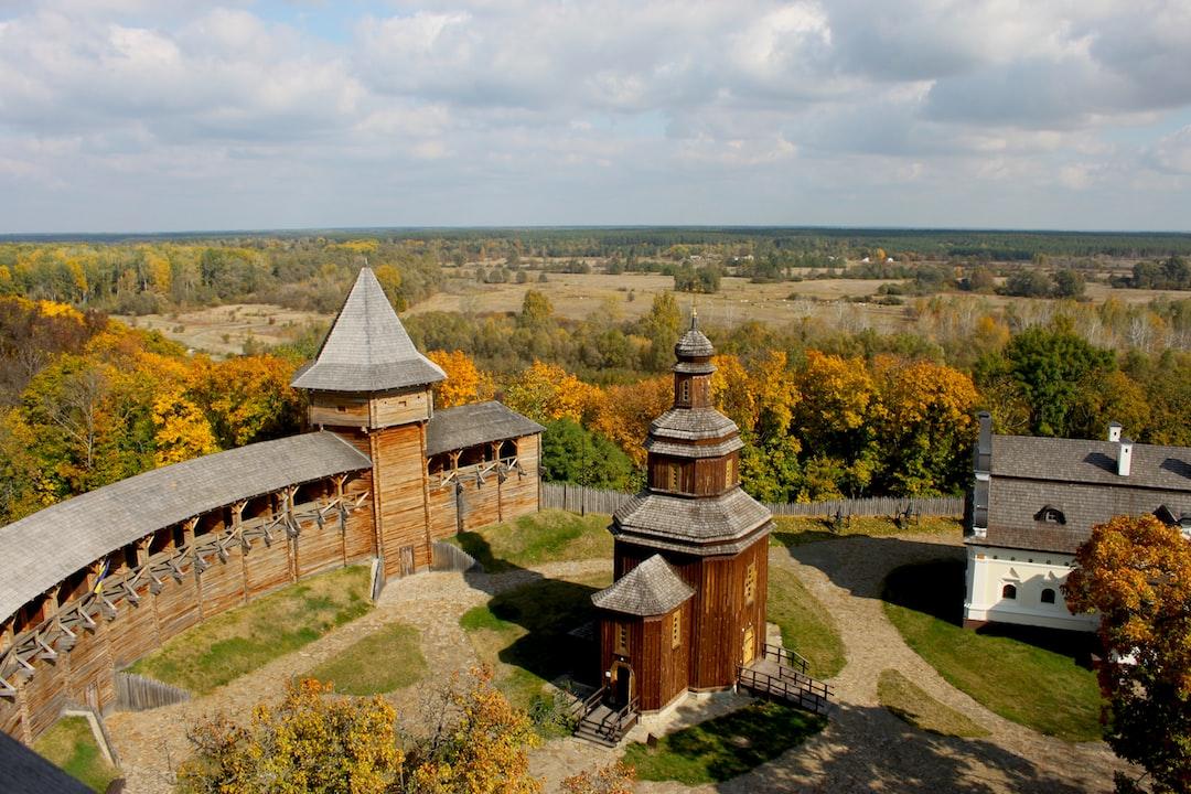 Ukrainian heritage: medieval wooden castle in Baturin town.