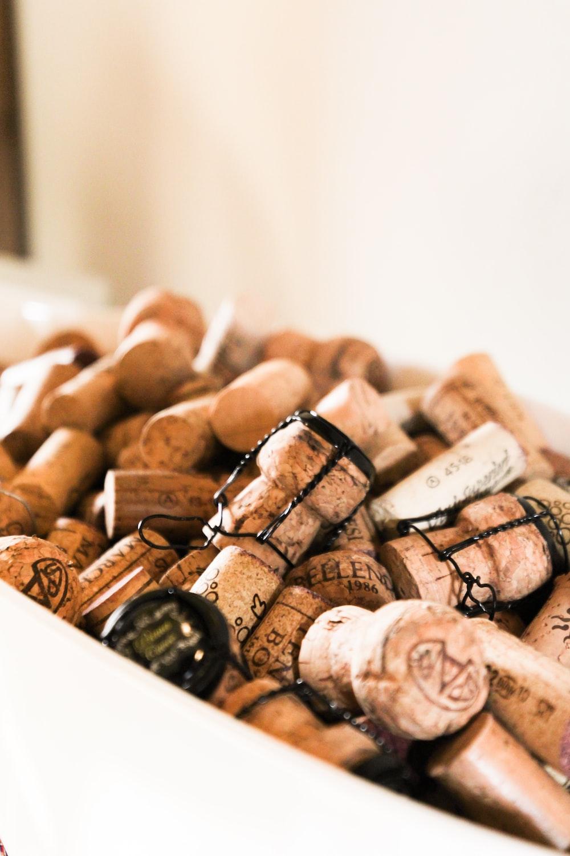 brown wooden cork bottle cork lid