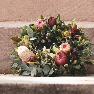 pink and green flower bouquet
