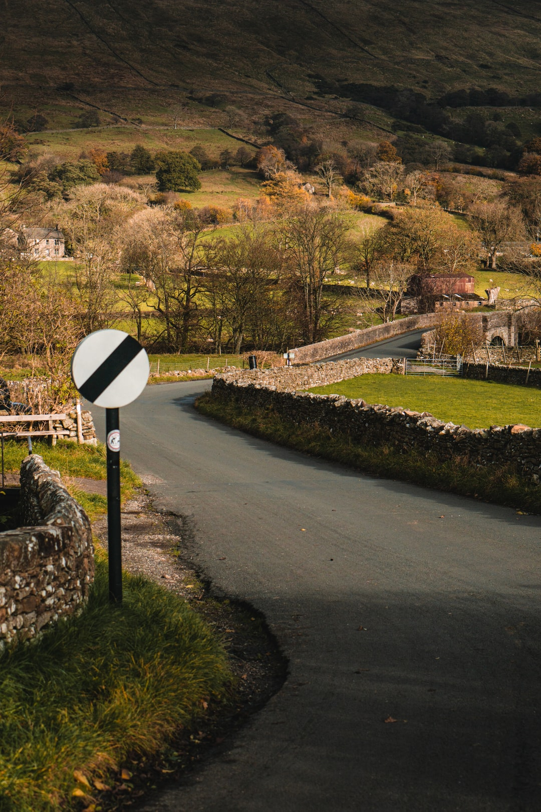 Roads leading out Dent, in Dentdale, the Yorkshire Dales.