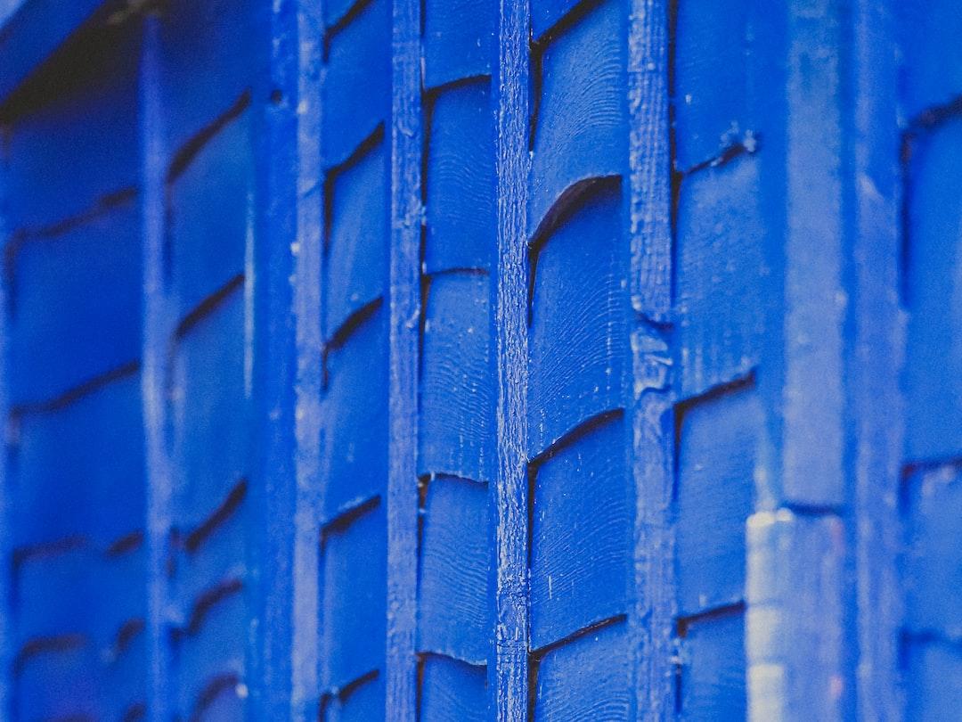 Blue Fence Panel