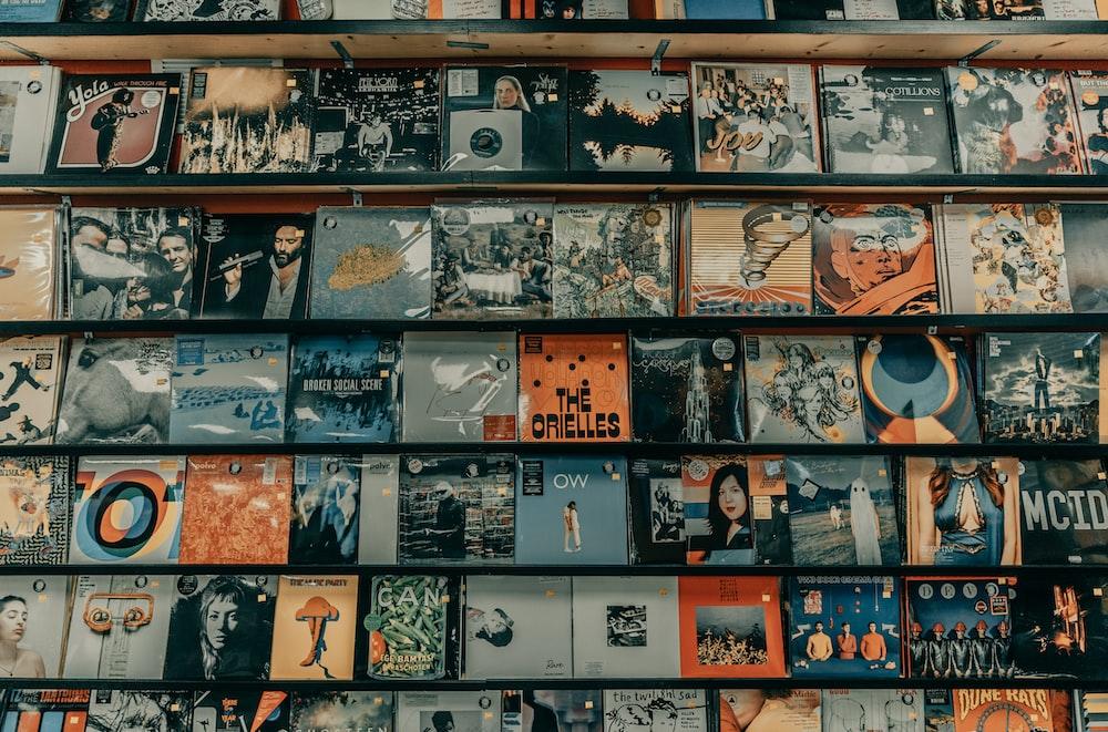 black and white vinyl record