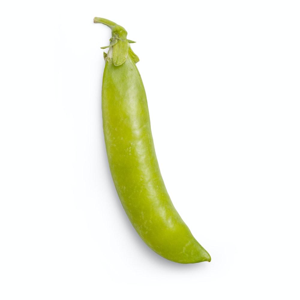 green chili on white background