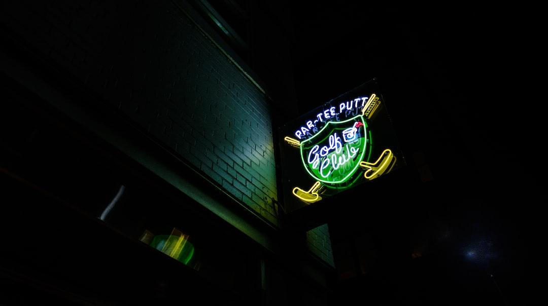 Par-tee putt neon sign .. I suppose it's a golf club?