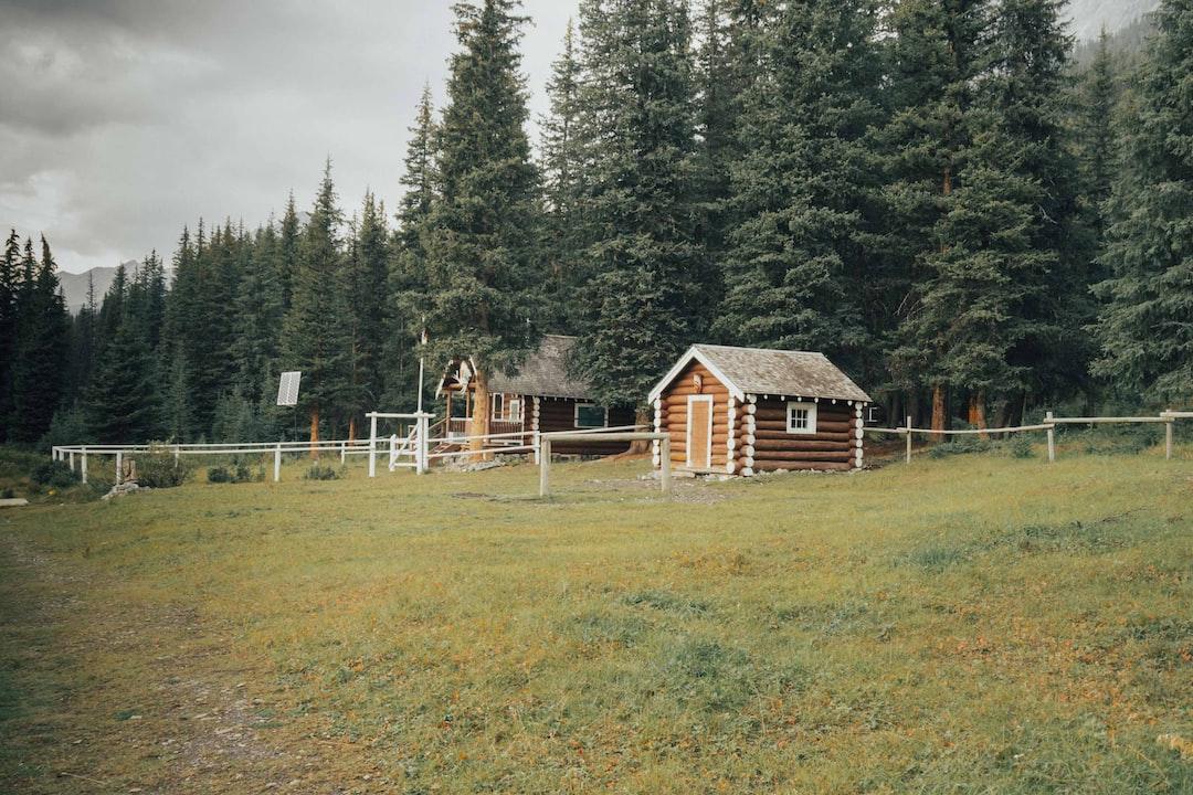 Banff National Park warden cabin while hiking into Mount Assiniboine via Banff National Park