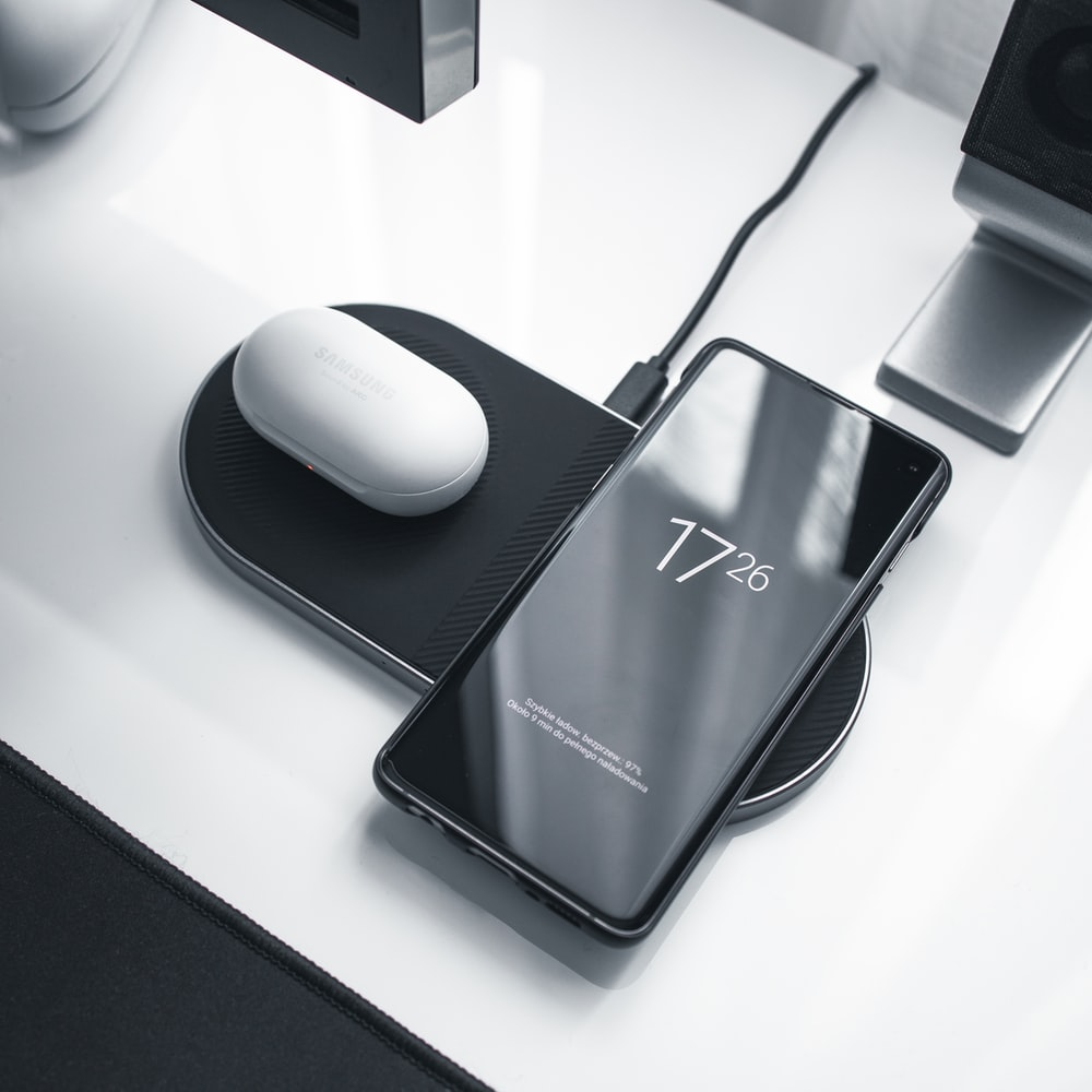 black and white asus wireless computer mouse