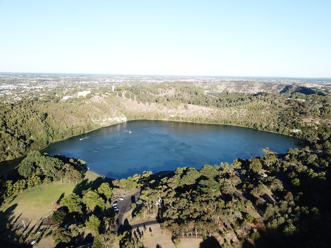 The Valley Lake, A lake surrounded by mountains in Mount Gambier, SA