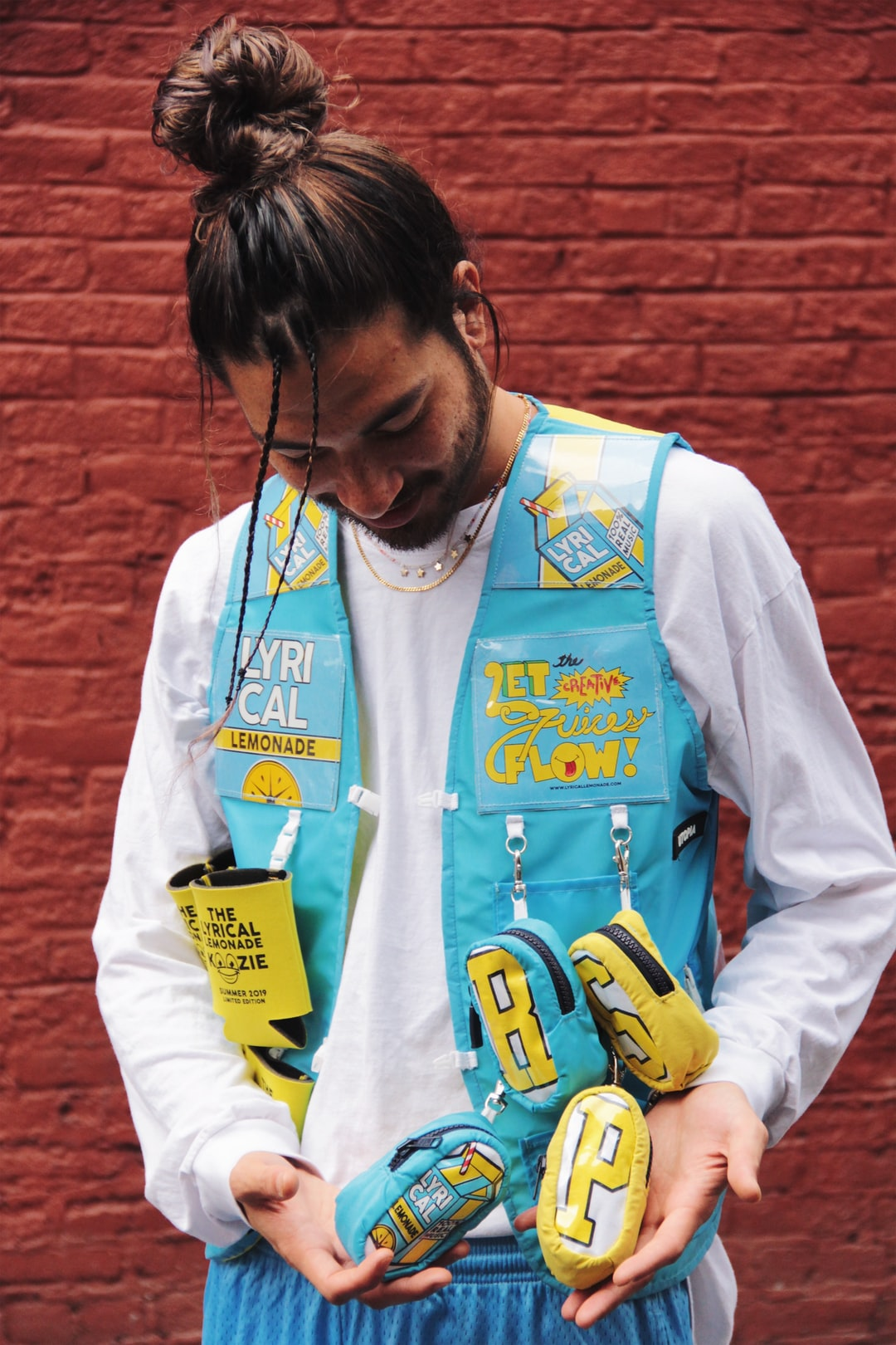 Handmade Lyrical Lemonade/RSVP Gallery Vest! Upcycled from can koozies, cardboard packaging and a t-shirt. Only one in the world :)