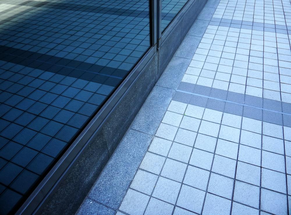 white and blue ceramic tiles
