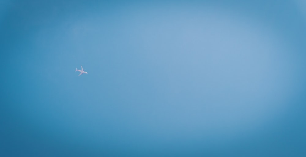 white airplane in the sky