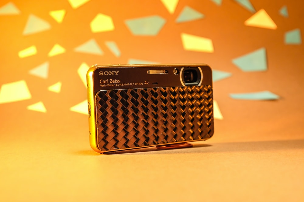 yellow and black sony portable speaker