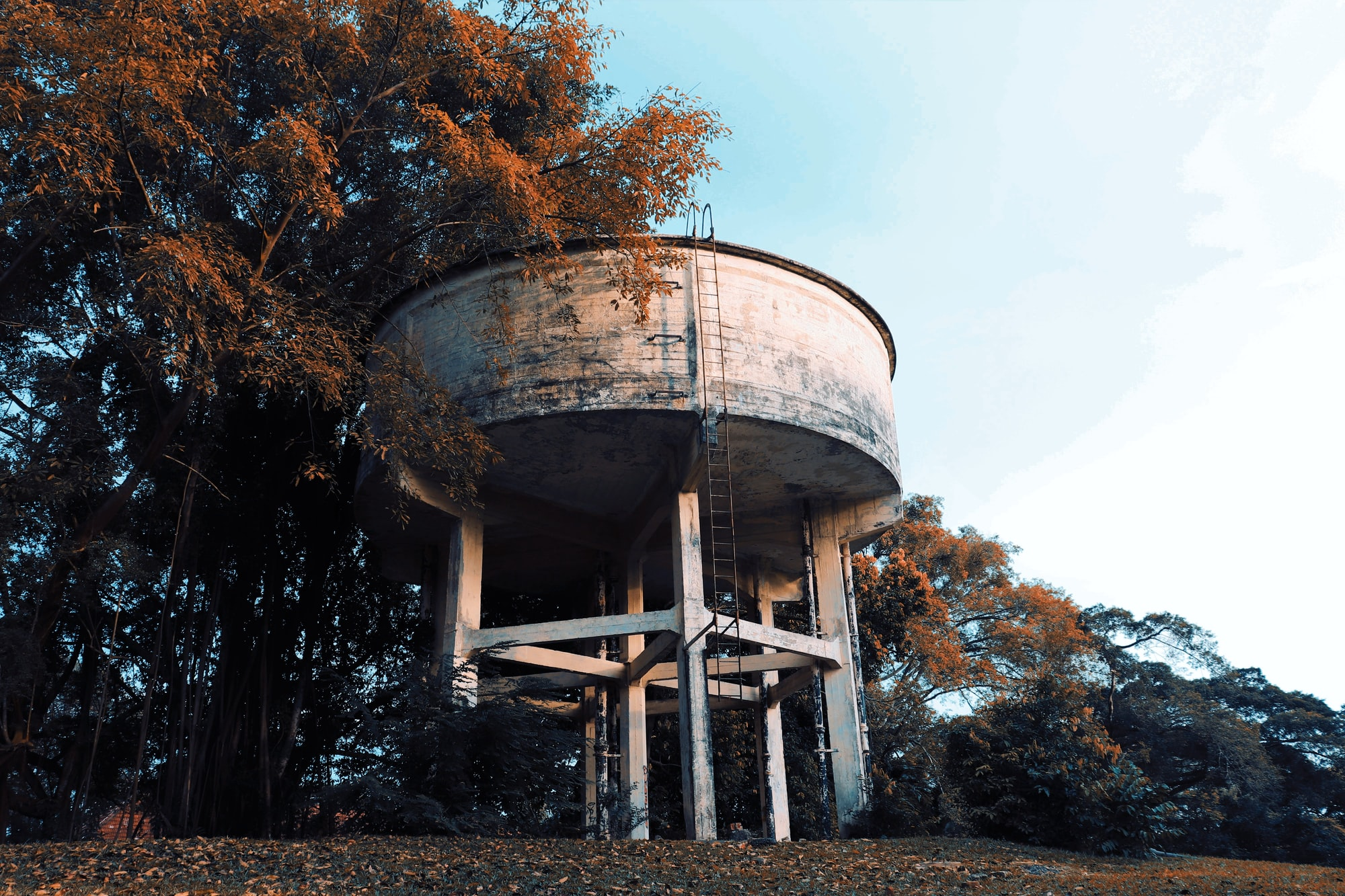 The old Portsdown Water Tank on top of the hill.