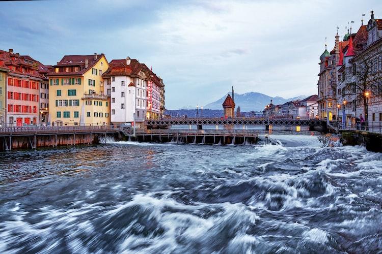 Reuss River in lucerne