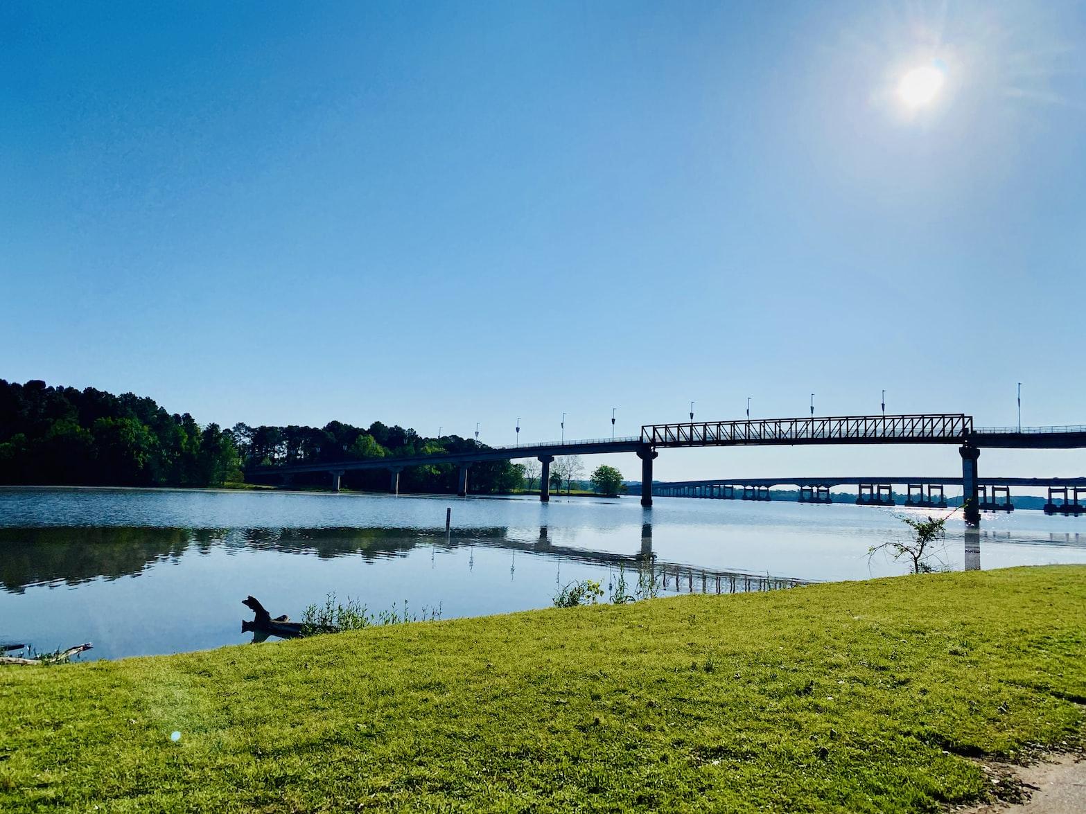 bridge and river in Little Rock, Arkansas