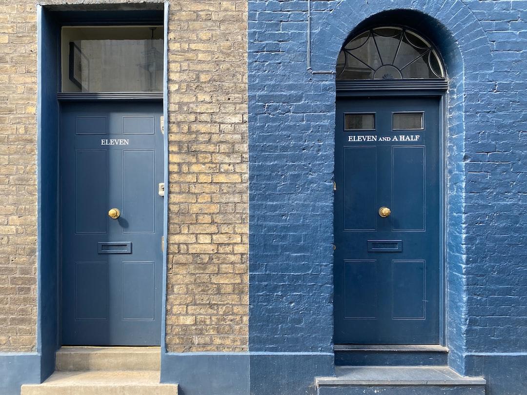 Two doors in Spitalfields, London.