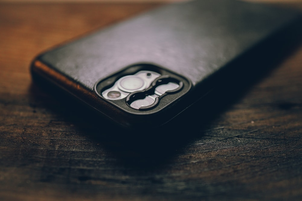 black and white leather flip case