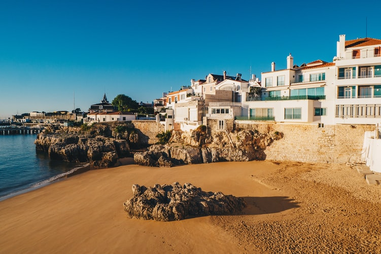 Cascais - beach town near lisbon portugal