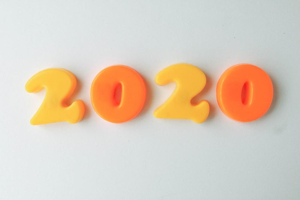 orange and white letter b wall decor