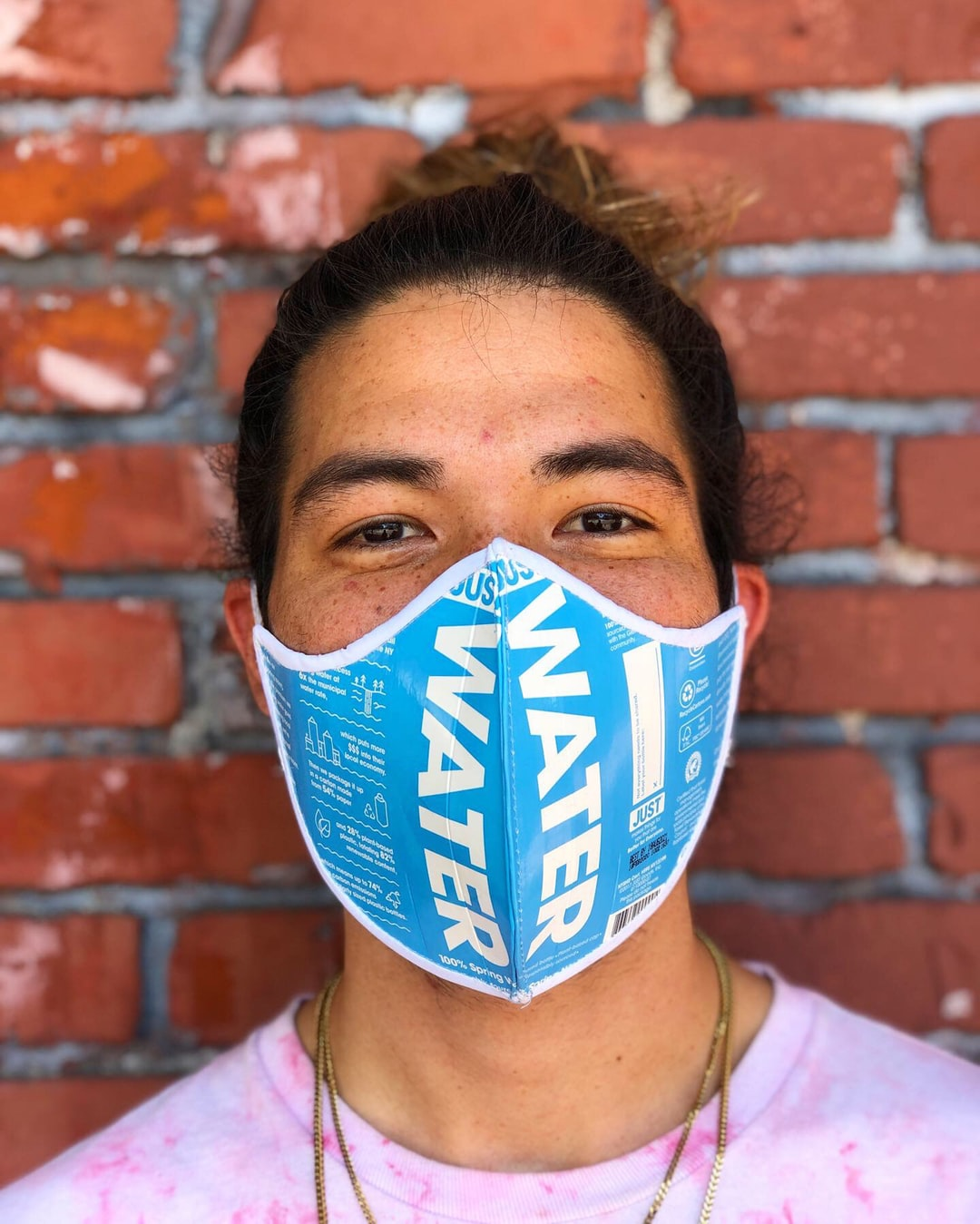 JUST WATER MASK! We partnered together to present this to the world :) Handmade from 2 water bottles