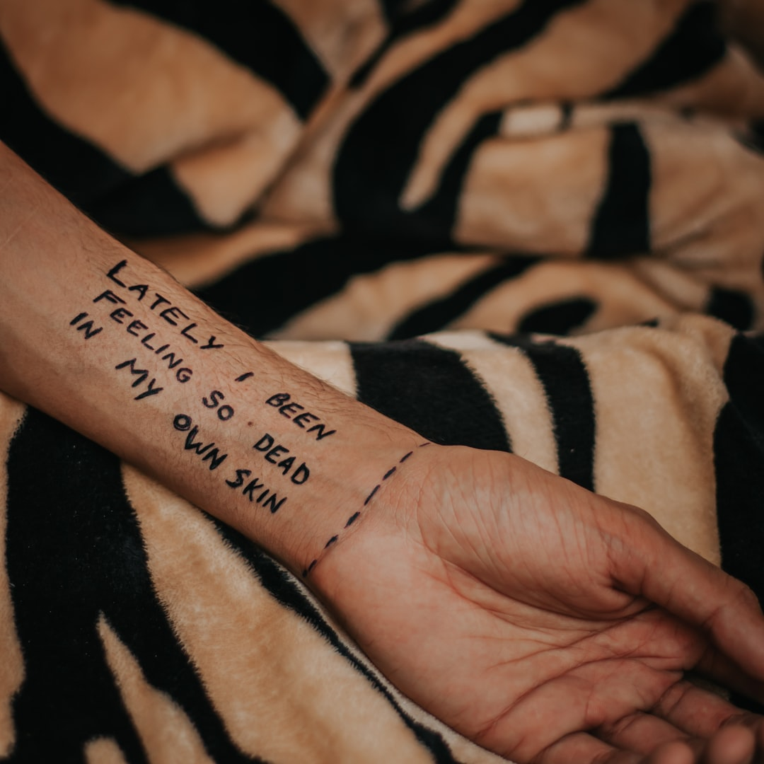 Quotes written on hand