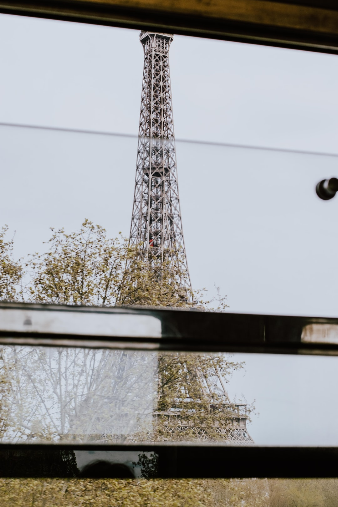 Eifel tower from the RER view
