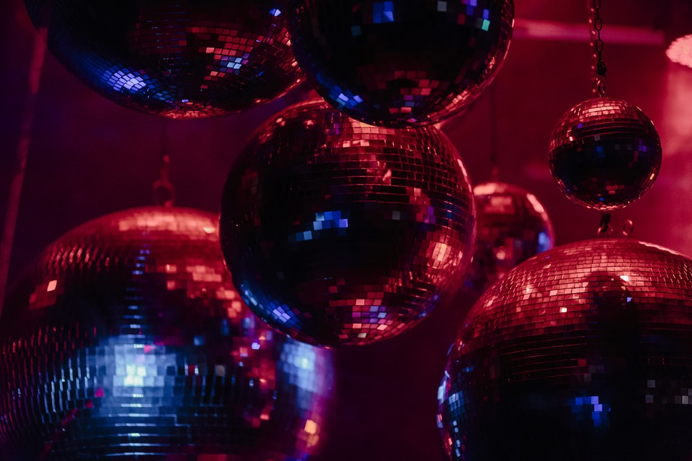 red and blue ball decor