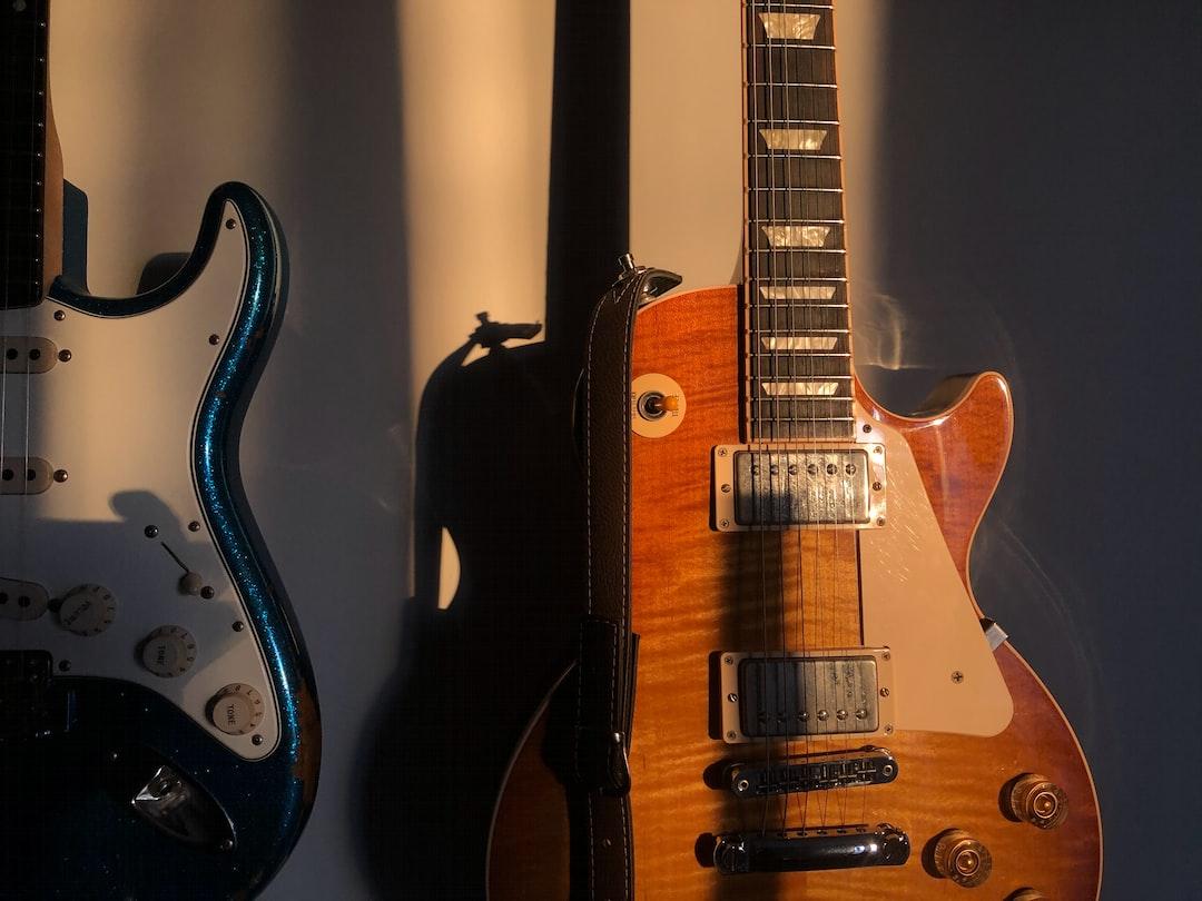 Golden hour bathing the guitars. Rock!