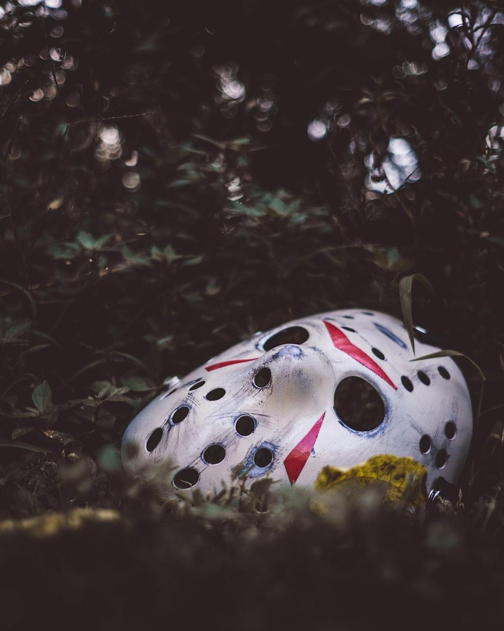 white and black polka dot egg ornament