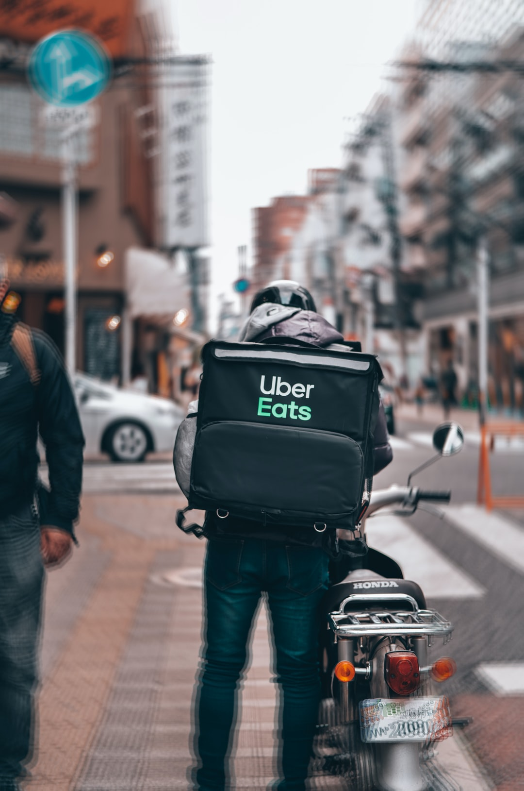 COVID-19  UberEats delivery man