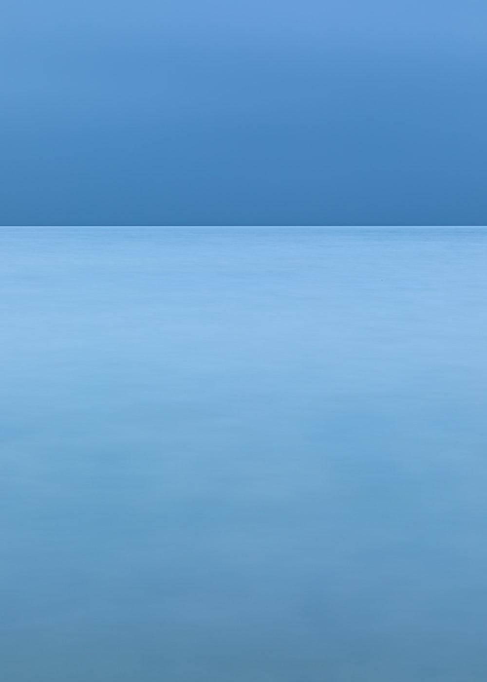 blue sky over the sea