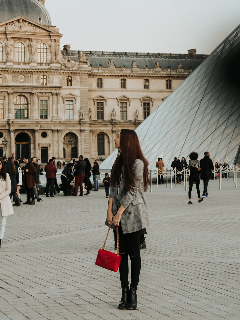Teenager at the Louvre