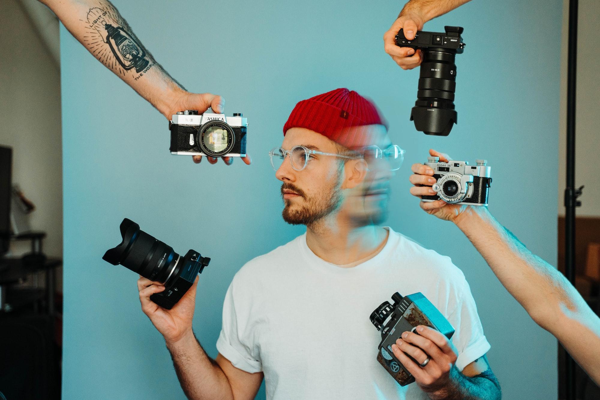 Creative Self Portrait with Camera
