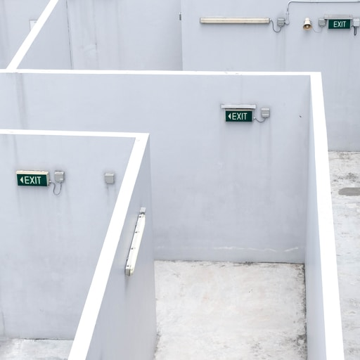 white concrete stairs with no people