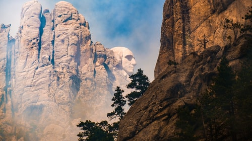 Protest of Mount Rushmore Presidential Visit